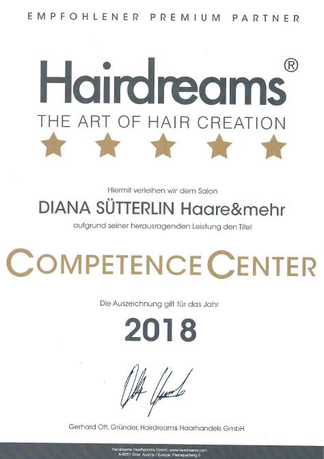 Auszeichnung Hairdreams 2018