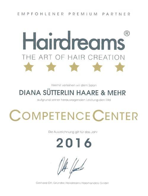 Auszeichnung Hairdreams 2016